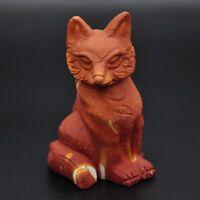 Fox Figurine Natural Mookaite Crystal Healing Sculpture Stone Carving Gemstone