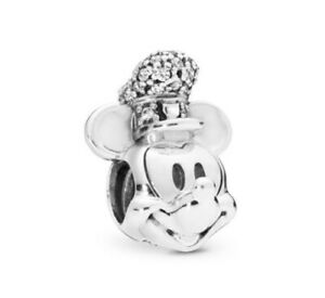Mickey Mouse Steamboat Willie European Charm 925 Bracelet Pendant Free Gift Bag