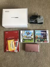 Nintendo 3DS Handheld Console In Coral Pink With Charger & Games