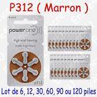 60 piles auditives : MARRON P312 ( = 10 blisters )