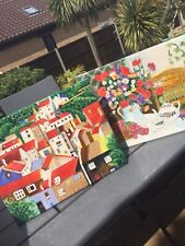 "BENAYA ART CERAMICS.  TILE ART PLAQUE  11 x 14"".  BRAND NEW BOXED"