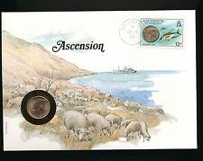 Numis-Brief 1985 aus Ascension   (B18)