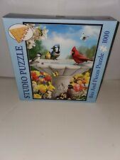 """Studio 1000 Piece Jigsaw Puzzle """"GARDEN FRIENDS"""" by Alan Giana #48603 20x27"""