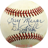 RAY MEYER SIGNED AUTOGRAPHED NL BASEBALL INSCRIBED DEPAUL 1-2-93 TRISTAR