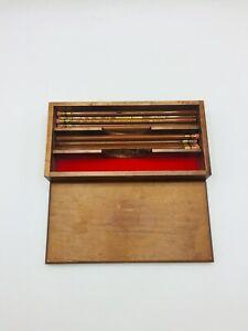 Vintage Mirado Wood Pencil Box w/ 16 Chema-Sealed HB 177-2 #2 Pencils