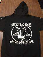 Bathory Zip Up Hoodie darkthrone venom celtic frost mercyful fate black metal