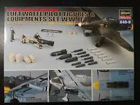 Luftwaffe Pilot Figures & Equipment Set WW. II. Hasegawa, Scale:1/48, Kit: X48-9