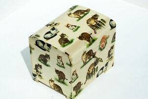 Wood handmade hinged lockable medium trinket chest box decoupage Cats