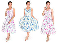 Dress 40s 50s Swing Vintage Rockabilly Ladies Retro Prom Party Plus Size 6 - 24