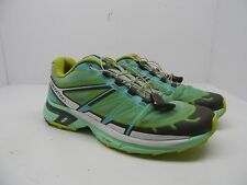 Salomon Women's Wings Pro 2 Trail Running Shoes Green/Blue/Yellow Size 9M