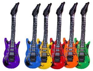 Gitarre aufblasbar in 6 Farben Luftgitarre Rock  ca 100 cm 218