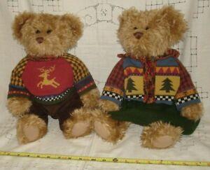 Medwin and Marisa Pair Dressed Russ Berrie Teddy Bears Festive Gatherings