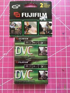 2 Pack Videocassette Fujifilm DVC Mini DV Digital Tapes 60 SP 90 LP
