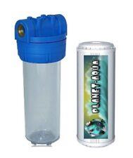"""Filtergehäuse Set 10""""  1 IG + Aktivkohle Filter Wasserfilter Haus Garten Brunnen"""