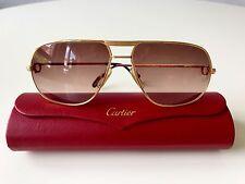 vintage CARTIER TANK rare sunglasses LARGE gold plated Vendome Santos Romance LC