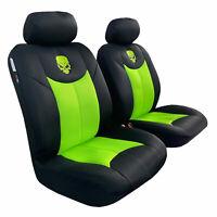 Skull Seat Covers For Holden Commodore VT VX VY VZ Spacer Mesh Fluro Green Black