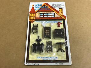 Vintage 1977 Chadwick-Miller Mini Dollhouse Furniture