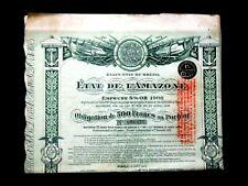 ETAT DE L'AMAZONE EMPRUNT 5% OR 1906 OBLIGATION 500 FRS - ETATS UNIS DU BRÉSIL