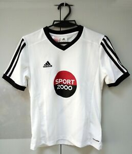 Childern Adidas climalite shirt Sport 2000 size YM white color free shiping