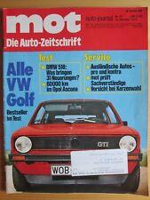 MOT 21/76: VW Golf con GTI, Opel Ascona, BMW 518, Ford Taunus