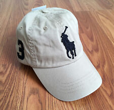 $50 NWT Polo Ralph Lauren Mens Womens Unisex Khaki Big Pony Logo Baseball Hat