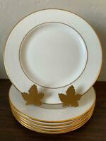 Lenox Bone China HANNAH GOLD Debut Set 6 Salad Plates Free Shipping!