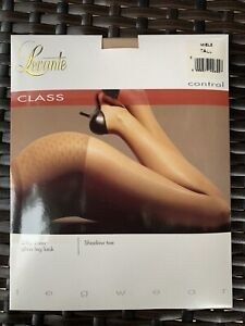 LEVANTE Class Silky Sheer Shaped Control Brief Cotton Gusset Pantyhose Sz TALL