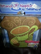 Stand Up Napkins 3D Cafe Cup Coffee Table Decor Hostess Gift Place Cards  16