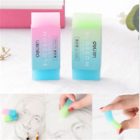 Cute Durable Flexible Cube Translucent Pencil Rubber Erasers For School Kids CN