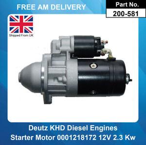 Starter Motor For KHD Engine 1.4 2.0 2.7 2.8 Diesel BF4L F4L F3L F2L 4L1011