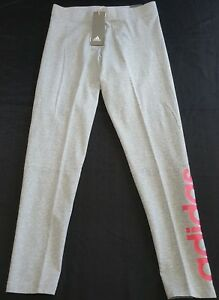Adidas womens ESS LIN Tight CF8872 Grey Pants size medium