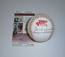 BREWERS Ben Oglivie signed 1982 World Series baseball w/Harvey Wallbngr JSA AUTO