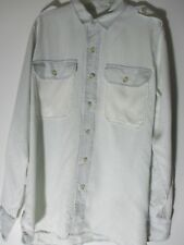The Shirt by Joe's Jeans Small Unisex Button Front light blue 2 pockets size S