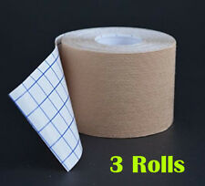 Therapeutic Kinesiology Tape, Three (3) Premium Synthetic Uncut Rolls
