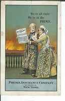 AY-183 - Phenix Insurance Co Brooklyn, 1907-1915 Golden Age Advertising Postcard
