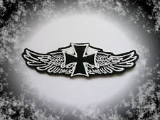 Iron Cross,Wings,Aufnäher,Patch,Aufbügler,Chopper,Biker,Iron On,Badge