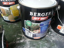 BERGER BY DULUX 4 LITRE JET-DRY PAVING SATIN WATER-BASE AMBER COLOUR PAINT