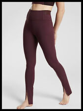 Athleta NWT Women's Aura Split Pant Size Med Color  Antique Burgundy
