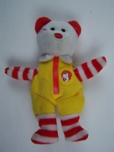 2004 McDonald's Teenie Beanies Ronald McDonald the Bear No Hang Tag