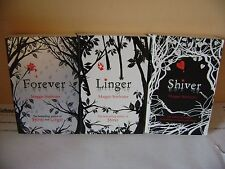 SET OF 3 BOOKS FROM MAGGIE STIEFVATER TITLES ARE SHIVER, LINGER AND FOREVER