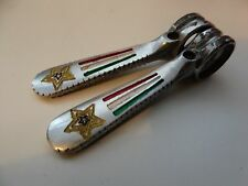 Vintage  Campagnolo OLMO Tricolour Panto Downtube Friction ShIfters RARE
