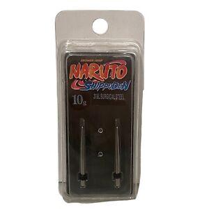 Naruto Shippuden Taper 316 Surgical Steel Ear Jewelry Plug Gauge 10g