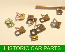 10 x Plated Petrol Pipe Holding Clamps for Austin Healey Sprite Mk 1 1958-61