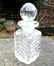 ANTIQUE EDWARDIAN HAND CUT GLASS SCENT / PERFUME BOTTLE ENGLISH