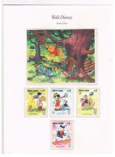 Sierra Leone,Mi.nr. 854 - 857 + Bl. 39,Walt Disney,postfrisch!