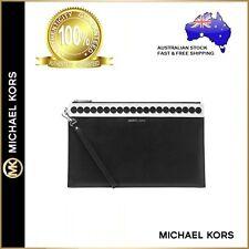 Genuine Michael Kors Analise Large Zip Leather Envelope Clutch Bag Pencil case