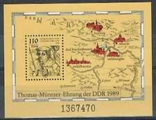 DDR postfris 1989 MNH block 97 - Thomas Muntzer
