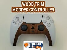 Sony Ps5 Wood Grain Look Trim Front Rapid Fire Modded Controller Cod Fps Games