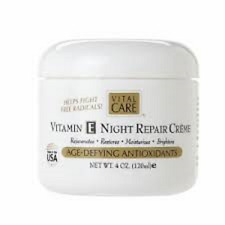 Vital Care Vitamin E Night Repair Creme Age-defying Antioxidants 4 Oz.