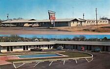 CORSICANA, TX Texas  AMERICAN CLUB MOTEL  Pool & Cars  Roadside c1950's Postcard
